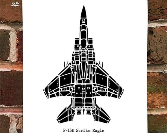 KillerBeeMoto: Vintage F15-E Strike Eagle Fighter Jet Limited Print
