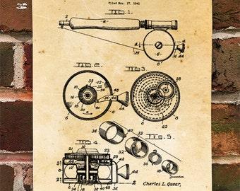 KillerBeeMoto: Duplicate of Original U.S. Patent Drawing For Vintage Fly Rod & Reel