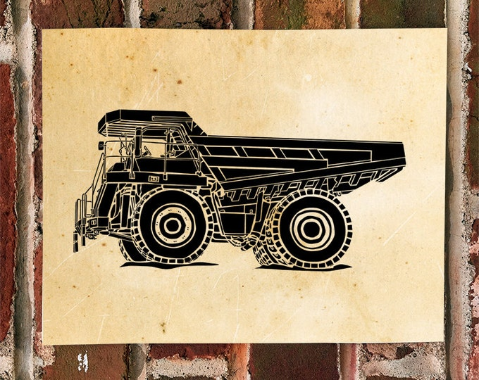 KillerBeeMoto: Limited Print of A Large Scale Construction Truck Print 1 of 50
