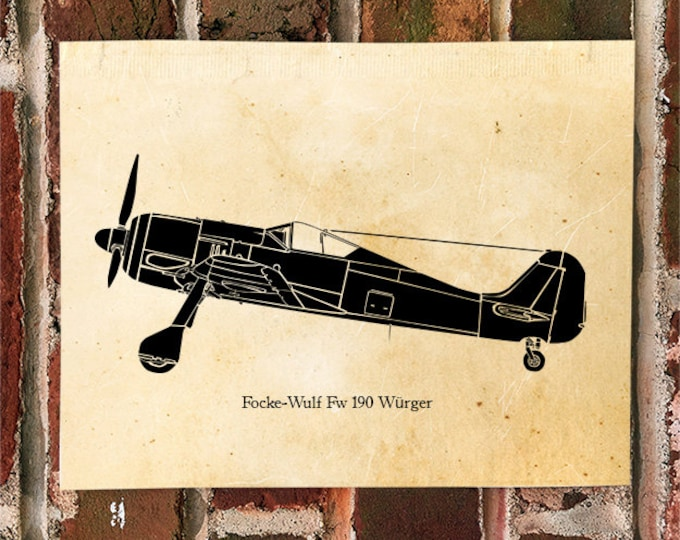 KillerBeeMoto: Limited Print Focke-Wulf Fw 190 Fighter Aircraft 1 of 50