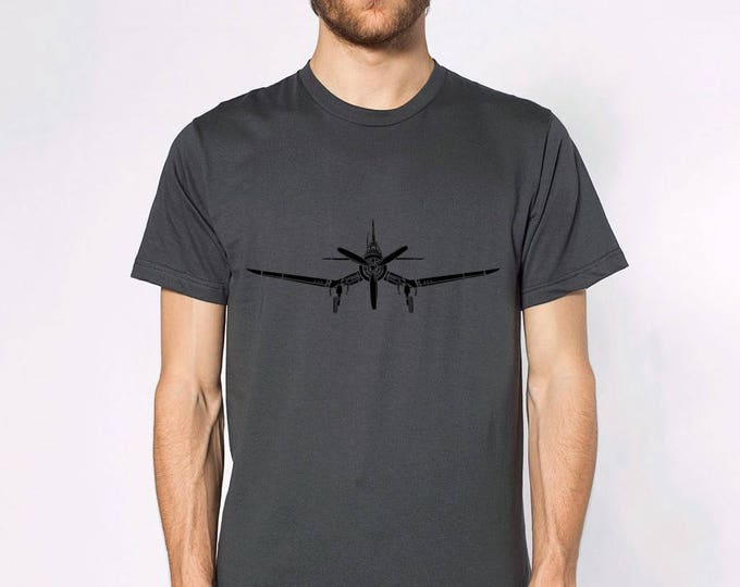 KillerBeeMoto: F4U Corsair Fighter Plane Short & Long Sleeve Shirt