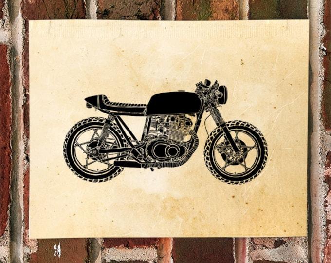 KillerBeeMoto: Limited Print Custom Japanese Engineered Cafe Racer Motorcycle Print 1 of 50