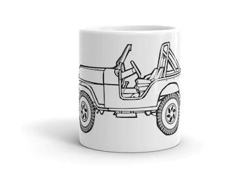 KillerBeeMoto: Limited Release Vintage American SUV Illustration On A Coffee Mug