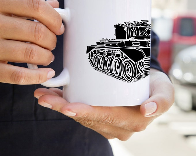 KillerBeeMoto:   Coffee Mug  British Comet 1 (A34) Cruiser Tank Coffee Mug