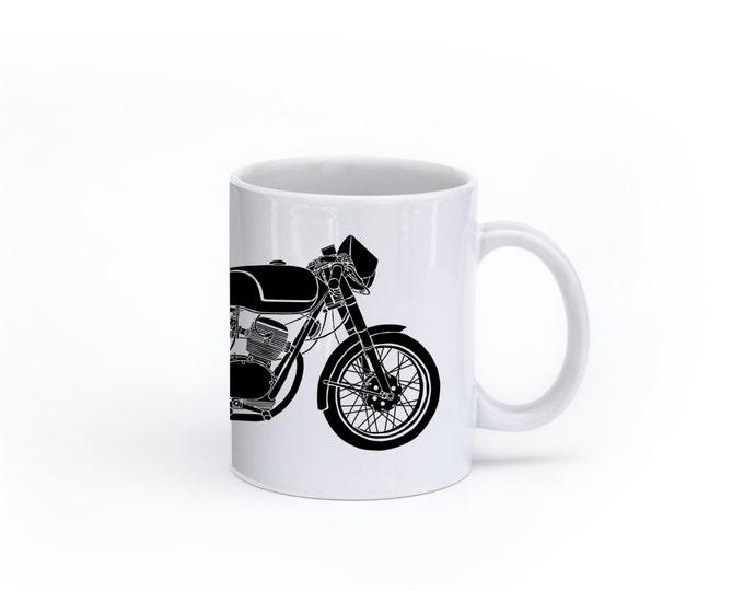 KillerBeeMoto:    Limited Release Italian Cafe Racer 125CC Coffee Mug (White)