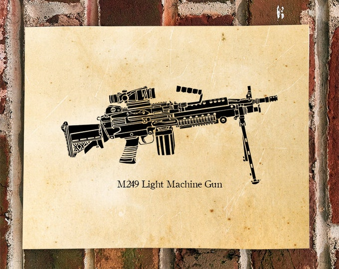 KillerBeeMoto: Limited Print M249 Light Machine Gun