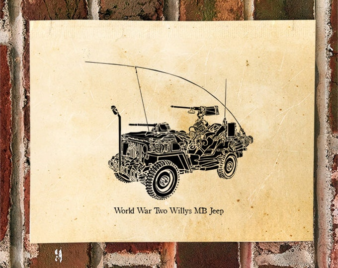 KillerBeeMoto: Limited Release Vintage Willys MB World War Two Scout Jeep Print