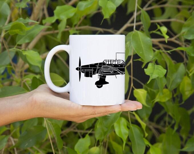KillerBeeMoto:   Coffee Mug Junkers Ju 87 Stuka Dive Bomber Plane Coffee Mug (White)