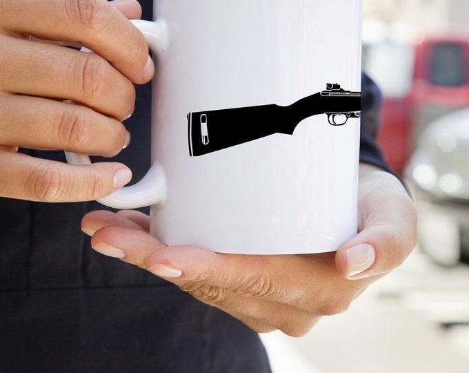 KillerBeeMoto:    M1 Carbine World War Two Rifle On A Coffee Mug