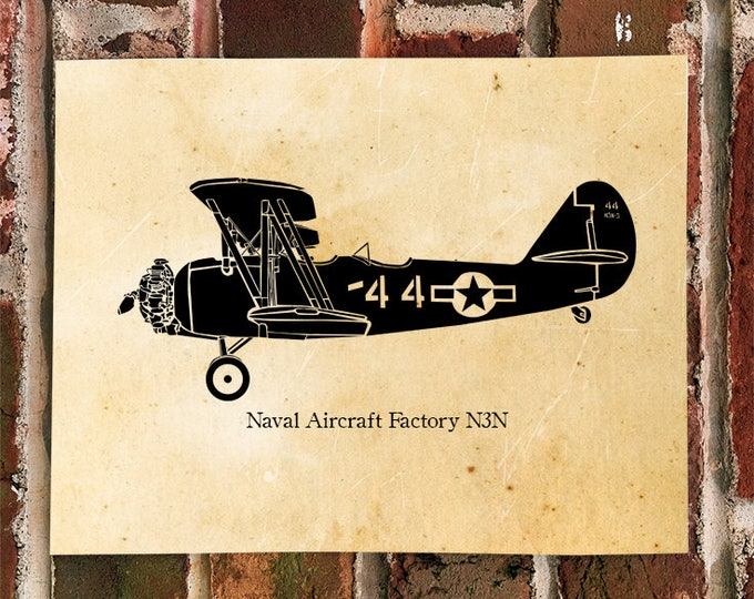 KillerBeeMoto: Limited Print N3N-4 Trainer Aircraft Bi-Plane