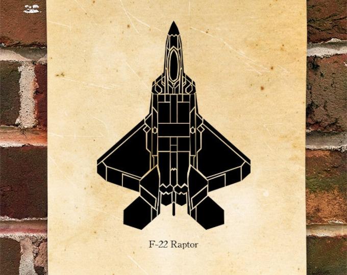KillerBeeMoto: Limited Print F-22 Raptor Aircraft Print 1 of 100