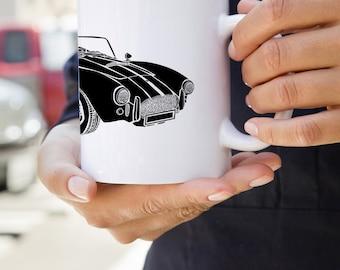 KillerBeeMoto:  Limited Edition Vintage Sports Car Coffee Mug