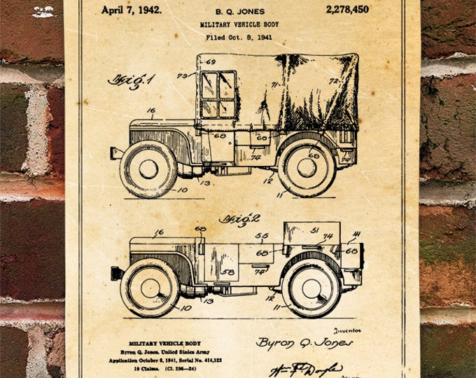 KillerBeeMoto: Duplicate of Original American SUV Truck Patent Drawing