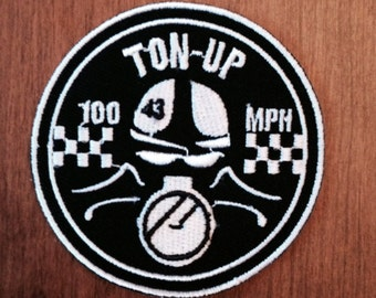 KillerBeeMoto: Ton-Up Motorcycle Patch 3 x 3 Inches