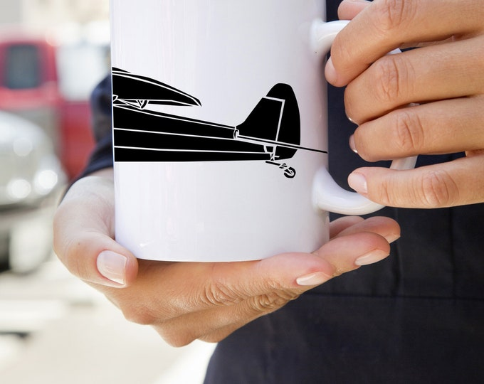 KillerBeeMoto: Limited Release Piper PA-18 Supercub Recreational Aircraft Coffee Mug
