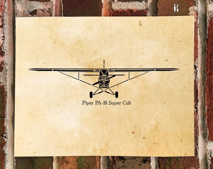KillerBeeMoto: Limited Print PA-18 Airplane Print 1 of 100