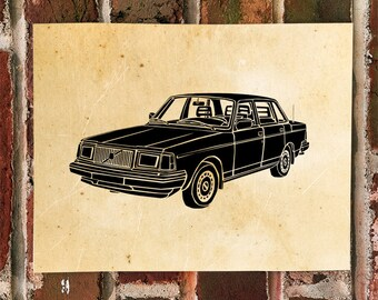 KillerBeeMoto: Limited Print Vintage Swedish Sedan Automotive Print Print 1 of 50