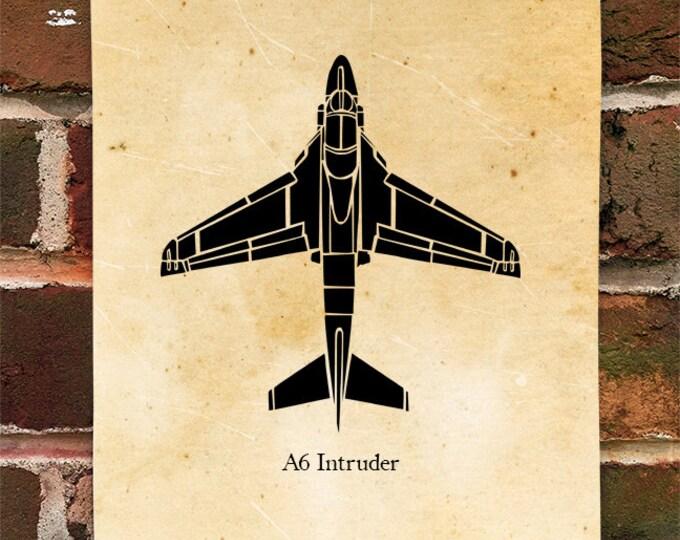 KillerBeeMoto: A-6 Intruder Aircraft Top View Limited Print