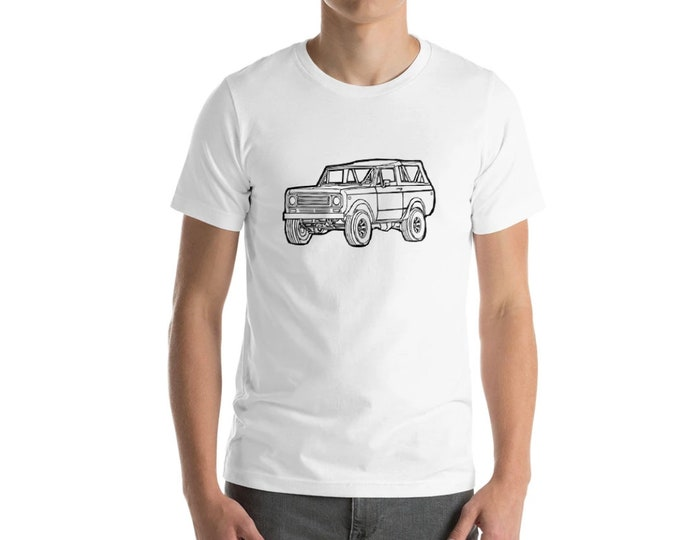 KillerBeeMoto: Vintage Pick-Up Truck Scout Hand Drawn Illustration On A Short Sleeve T-Shirt