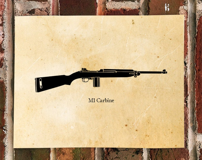 KillerBeeMoto: Limited Print M1 Carbine World War Two Rifle Print