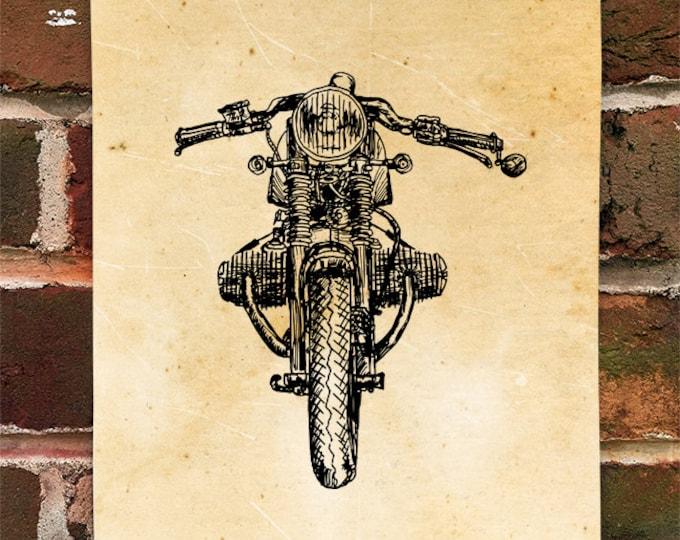 KillerBeeMoto: Limited Print German Engineered Cafe Racer Motorcycle Print