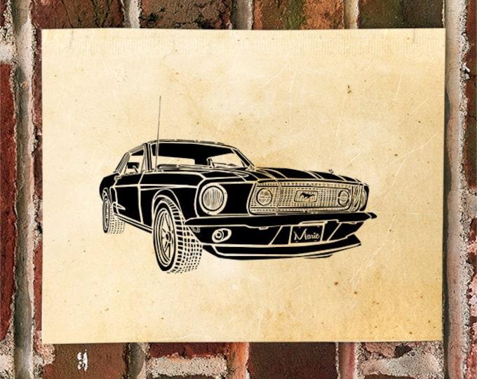 KillerBeeMoto: Limited Print Vintage American Engineered Muscle Car 1 of 50 Automotive Print