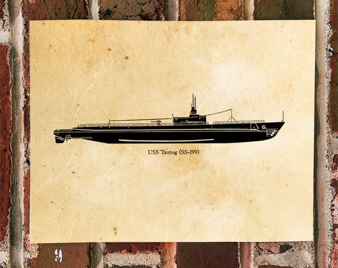 KillerBeeMoto: Limited Print USS Tautog SS-199 World War Two Submarine Print 1 of 100