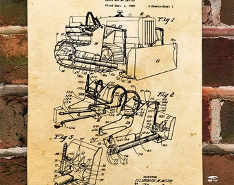KillerBeeMoto: Duplicate of Original U.S. Patent Drawing For Vintage Bull Dozer