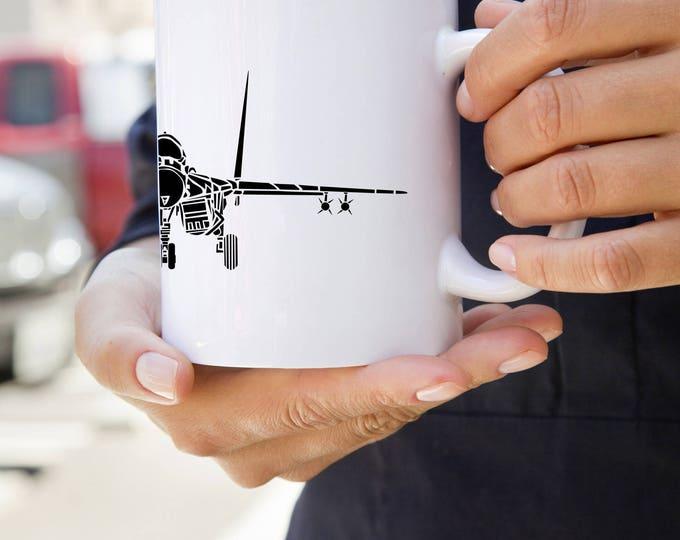 KillerBeeMoto:  Coffee Mug Mikoyan MiG-29 Fighter Jet