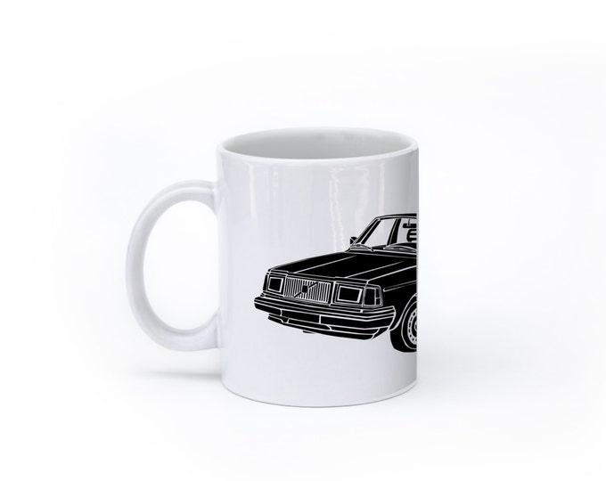 KillerBeeMoto:   Limited Release Boxy Yet Safe Swedish Sedan Coffee Mug (White)