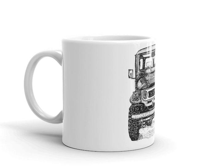 KillerBeeMoto:   Coffe Mug With Hand Drawn Graphic Of Vintage Japanese SUV