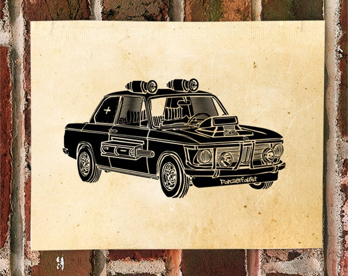 "KillerBeeMoto: ""The Panzerfaust"" - Limited Print Apocalyptic Chaos Series German Engineered Vehicle"