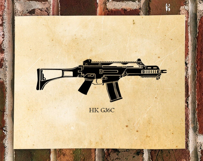 KillerBeeMoto: Limited Print G36C Battle Rifle Print