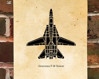 KillerBeeMoto: Limited Print U.S. Grumman F-14 Tomcat Fighter Aircraft
