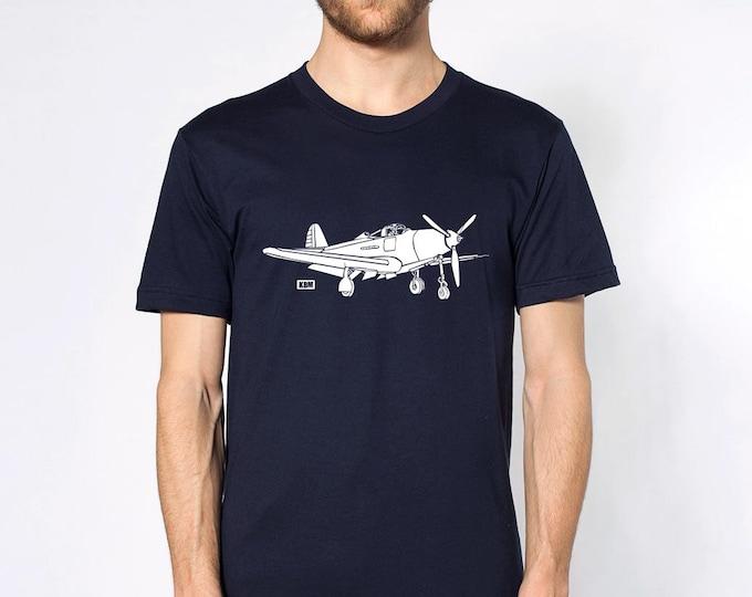 KillerBeeMoto:  P-39 Aircobra Aircraft Short And Long Sleeve Shirt Cartoon Version