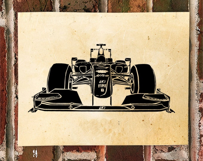 KillerBeeMoto: Limited Print Formula 1 Race Car Automotive Print Print 1 of 50