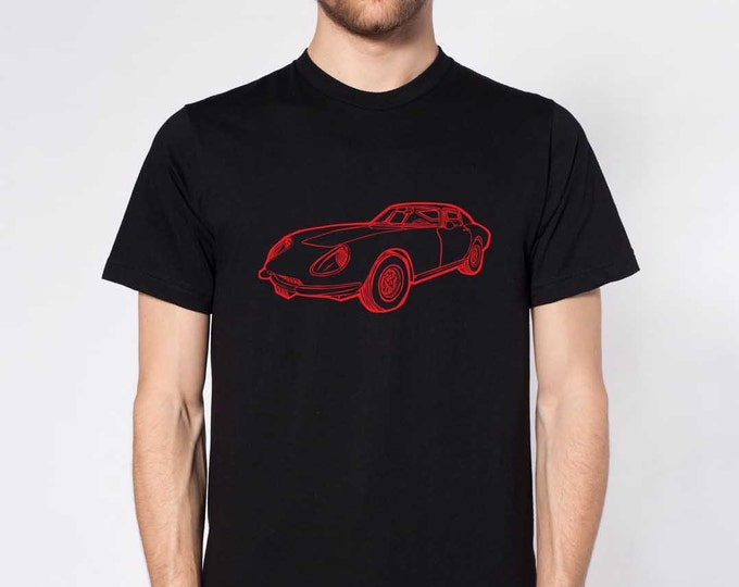 KillerBeeMoto: Limited Release Vintage Italian Engineered Sports Car Short & Long Sleeve Shirt Cartoon Style