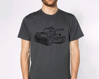 KillerBeeMoto: Russian Soviet T-34 World War 2 Tank T-Shirt Short & Long Sleeve