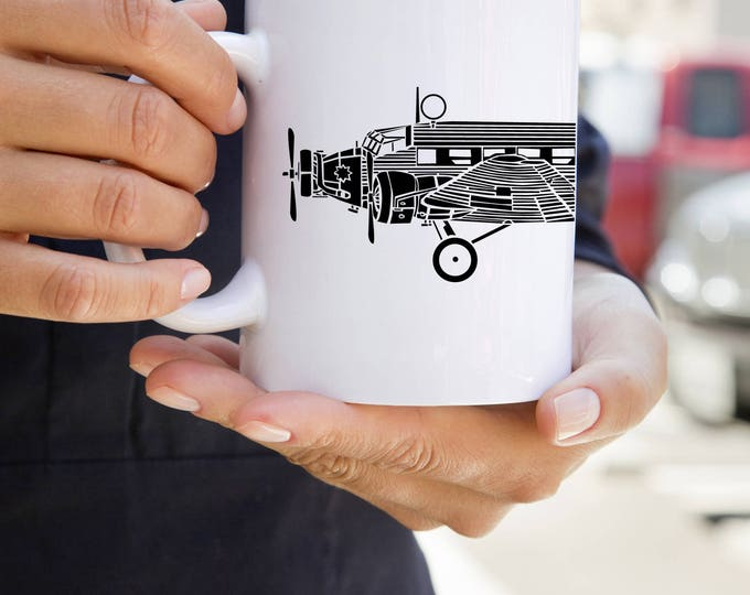KillerBeeMoto: Ju 52 Airplane On Coffee Mug (White)