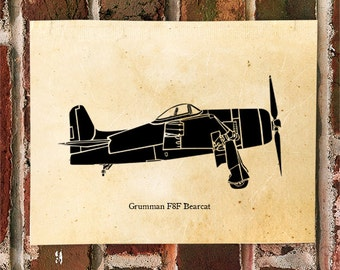 KillerBeeMoto: Limited Print Grumman F8F Bearcat Fighter Aircraft 1 of 50