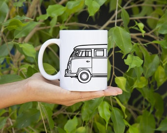 KillerBeeMoto:   Limited Release German Engineered Hippie Transport Mug (White)