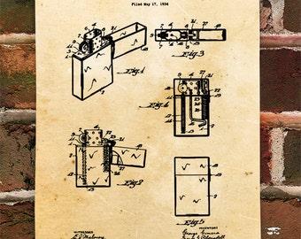 KillerBeeMoto: Duplicate of Original U.S. Patent Drawing For Vintage Cigar  Lighter