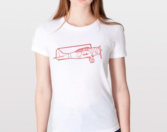 KillerBeeMoto: Douglas SBD Dauntless Aircraft Short And Long Sleeve Shirt Cartoon Version