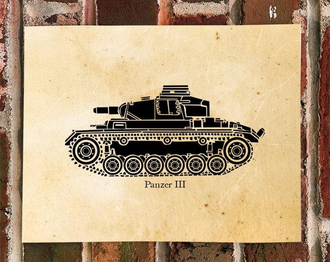 KillerBeeMoto: Limited Print of A German World War Two Panzer III Tank 1 of 100 Print
