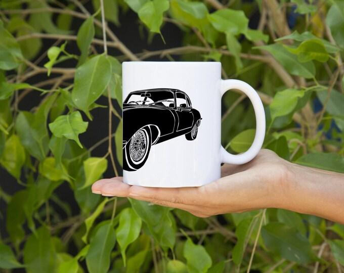 KillerBeeMoto:   Coffee Mug   Limited Release Vintage British Sports Car E-Type Coffee Mug (White)