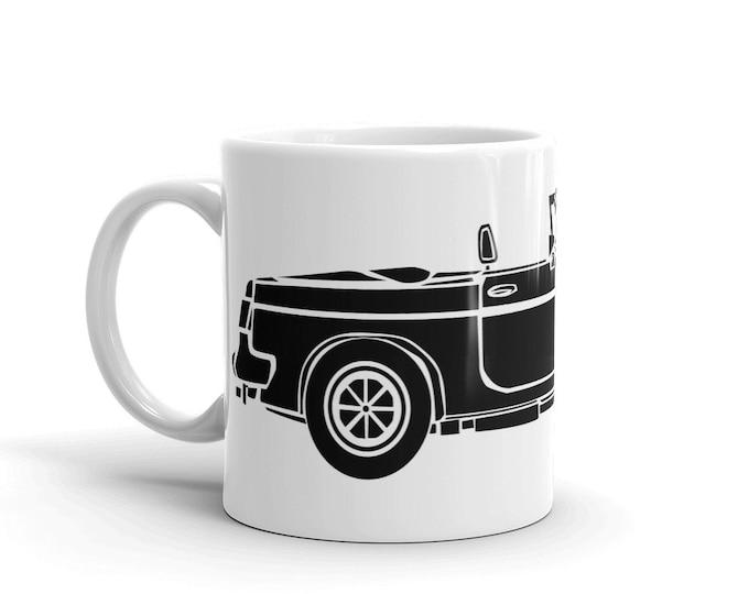 KillerBeeMoto: Limited Release British Engineered Convertible Sports Car Coffee Mug (White)