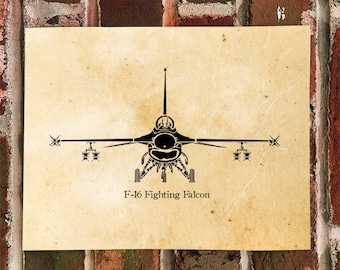 KillerBeeMoto:  Limited Print F16 Fighting Falcon Aircraft Poster