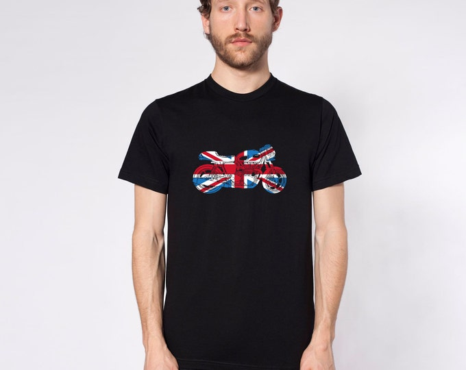 KillerBeeMoto: Limited Release Union Jack Cafe Racer Motorcycle Short & Long Sleeve Shirt
