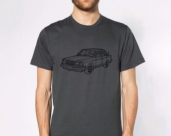 KillerBeeMoto: Limited Release Boxy Yet Safe Swedish Sedan Short & Long Sleeve Shirt Cartoon Version