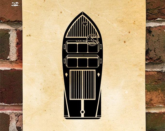 KillerBeeMoto: Limited Print Vintage Style Wooden Motor Boat